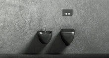 Sanova erbjuder senaste trenden inom badrumsvärlden med matt svart yta på wc-stolar