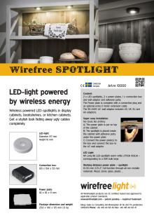 Wirefreelight - Trådlös el spotlightkit. Produktblad.