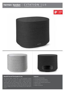 Harman Kardon Citation Subwoofer_Spec sheet