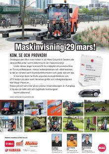Maskinvisning 29 mars i Malmö
