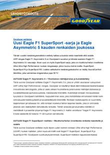 Goodyear esittelee: Uusi Eagle F1 SuperSport -sarja ja Eagle Asymmetric 5 kauden renkaiden joukossa