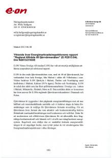 E.ONs remissvar Reglerat tillträde