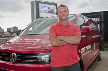 Could this be UK's most famous VW Transporter driver?
