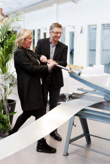 Stolt bransch nyinvigde teknikcentrum för plåtslageri