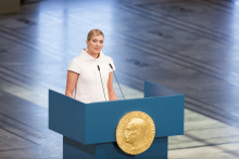 Beatrice Fihn at the Nobel Peace Center