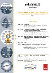 Välkommen till seminarium om Våldsamma upplopp, del 1, den 1 oktober 2013
