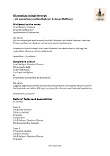 Glammiga mingelrecept, ett samarbete mellan Baileys® & Jonas Hallberg