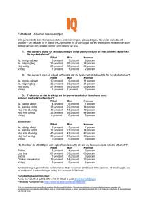 Faktablad - Alkohol och julfirande