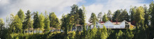 Helene erbjuder naturskönt boende i Orbaden