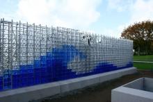 Kristallvägg till askgravplats i Malmö från Måleråsföretag