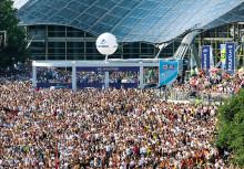 EM vises på storskjermer i hele Europa