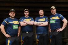 Sverige laddade för att försvara mästerskapet i Timbersports