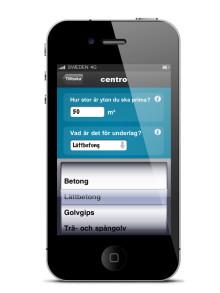 Unik iPhone-app från CENTRO kakel och klinker AB