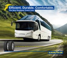 Nu finns Goodyeardäck för långfärdsbussar i Sverige