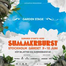 Garden Stage - ny scen för Summerburst 2017 i Stockholm!