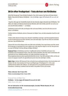 30 år efter fredspriset - Tutu skriver om förlåtelse