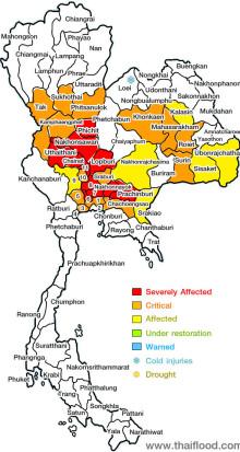 Europeiskas servicekontor i Bangkok informerar om översvämningarna