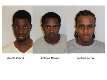 Three males who used strong acids, alkalis and knives to rob and maim victims jailed