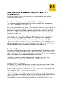 Om Ungdomssymfonikerne og Musikkhøgskolens repertoar