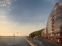 HSB säljstartar Kajen – med panoramavy över Stockholms inlopp