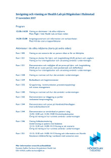 Program invigning Health Lab 17/11