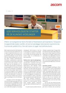 Artikel - God servicelogistik starter på de kliniske afdelinger