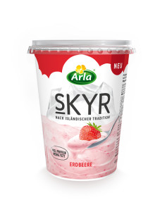 Neuzugang im Arla® Skyr Sortiment: Erdbeergenuss auf isländische Art