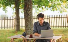 Åtta av tio småföretagare uppkopplade under semestern