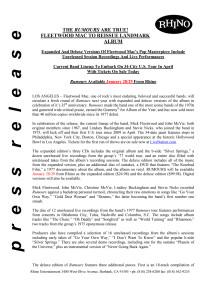 Fleetwood Mac original Rhino press release