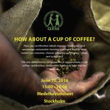 Välkommen till seminarium om kaffe och certifieringar