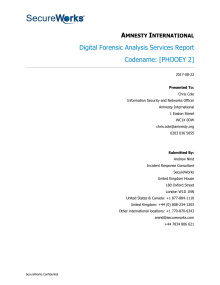 Digital Forensic Analysis Services Report