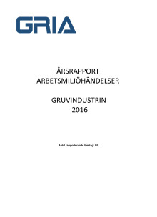 Branschrapport GRIA