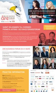 Inbjudan Åre Business Forum 29-31 mars 2017