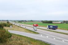 Omkörningsförbud i rusningstrafik för tung trafik på E6 i Skåne