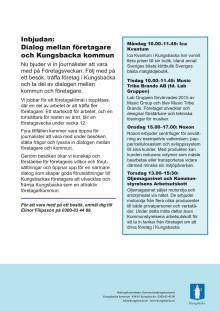 Inbjudan: Dialog mellan företagare och Kungsbacka kommun