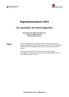 Dansk erhvervsliv - Regnskabsanalysen 2015 - byggesektoren
