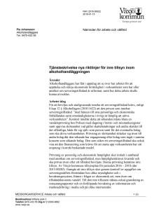 Tjänsteskrivelse nya riktlinjer för inre tillsyn inom alkoholhandläggningen