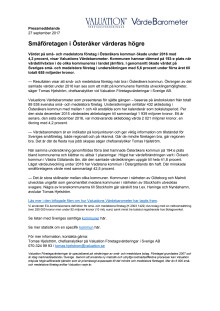 Värdebarometern 2017 Österåkers kommun