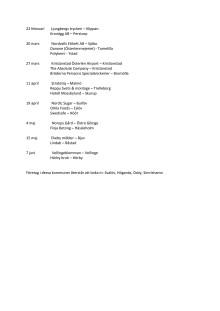 Landshövding Anneli Hulthéns planerade företagsbesök våren 2018 (aktuell februari)