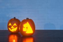 Roliga och läskiga pumpor till halloween