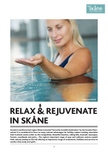 PRESSINFO: Relax and rejuvenate in Skåne