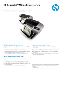 HP Designjet T790 e-skriver-serien dataark