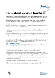 Facts: About traditions, holidays and food in Sweden