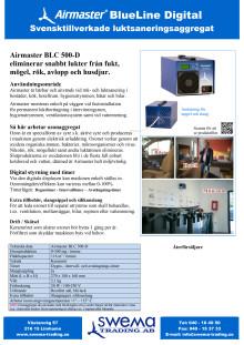 Airmaster BLC 500-D produktblad