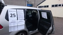 Polling station set up in presiding officer's car