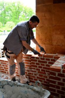 Murning påbörjad vid rekonstruktionen av Gunnebo orangeri