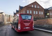 Första trådlösa elbusslinjen i Norden