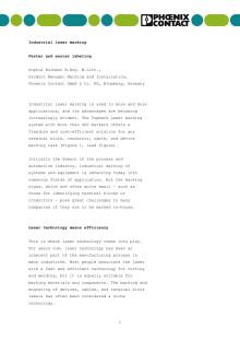 Teknisk artikkel om TOPMARK LASER - engelsk tekst