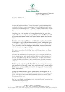 Underlag till uppvaktning av SKL och Friskolornas Riksförbund