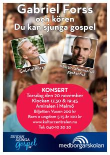 Martin Stenmarck gästar kören Du kan sjunga gospel i Malmö